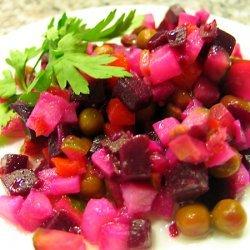 Beet And Potato Vinegret Salad