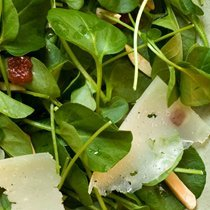 Watercress Salad With Manchego Membrillo And Almon... recipe