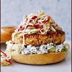 Pan-fried Salmon Burgers With Cabbage Slaw And Avo... recipe