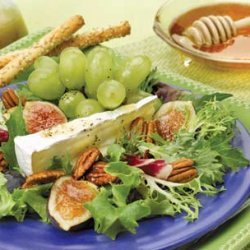 Brie Or Camembert Grape Salad With Honey Vinaigret...