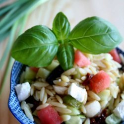 Pasta Salad With Watermelon And Goats Cheese