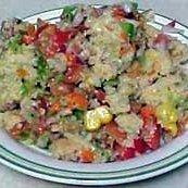 Colorful Corn Bread Salad