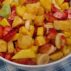 Summer Fruit Salad With Port And Mint Dressing