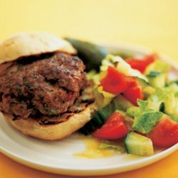 Elvis Burger With Chopped Salad And Pickled Gherki... recipe