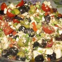 Tomato Olive Feta  Salad recipe