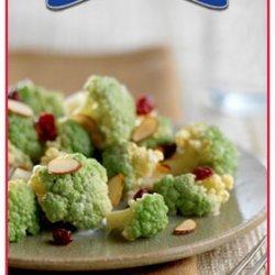 Broccoli Cauliflower Almond And Cranberry Salad