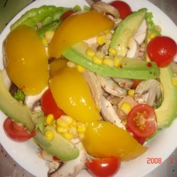 Gourmet Tuna Avocado Mushroom And Mango Salad