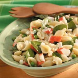 Pea N Crab Pasta Salad