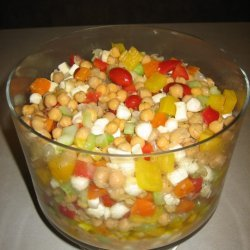 Chickpea Sweet Pepper And Bocconcini Salad