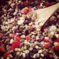 Provençal Sprouted Bean Salad