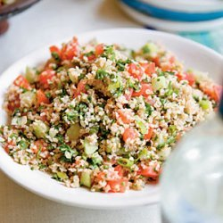 Bulgar Red Pepper Cucumber And Cheese Salad