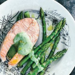 Poached Arctic Char with Basil-Tarragon Mayonnaise recipe