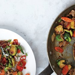 Brussels Sprouts and Steak Stir-Fry recipe
