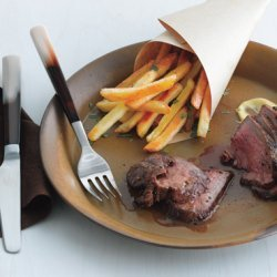 Tri-Tip Steak Frites with Red Wine Sauce