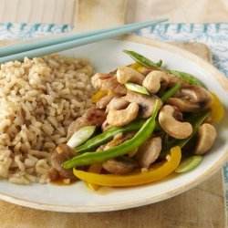 Pork, Mushroom, and Snow-Pea Stir-Fry