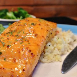 Salmon Glazed with Honey and Mustard