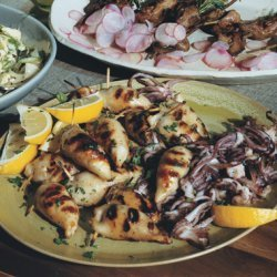 Grilled Sausage-Stuffed Calamari