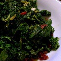Garlic And Cranberry Sauteed Kale