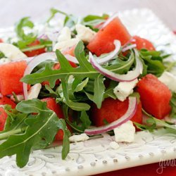 Watermelon Arugula And Feta Salad recipe