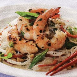 Prawn Noodle Salad With Asian Dressing