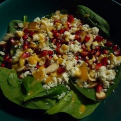 Spinach Salad With Mustard Agave Vinaigrette