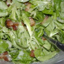 Mâche Salad Wit Potato-bacon Dressing recipe