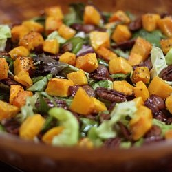 Roasted Butternut Squash, Bacon, Pecan, Mix Green ...