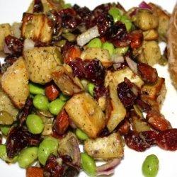 Roasted Yam And Edamame Salad