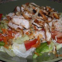 Simple Salad With Merinaided Turkey Cutlets