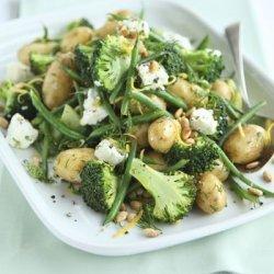 Lemony Potato Broccoli & Goat's Cheese Salad