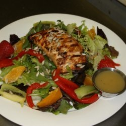 Citrus Salmon Mixed Green Salad