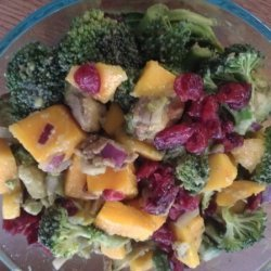 Avocado Mango Broccoli Salad recipe