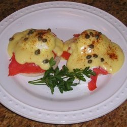 Smoked Salmon Eggs Benedict With Capers recipe