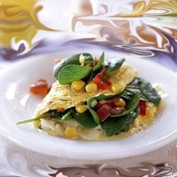 Tex-mex Omelete With Spinach