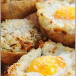 Easy Egg Twice Baked Potatoe