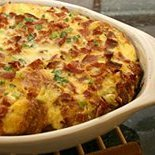 Ham And Eggs Hashbrown Bake