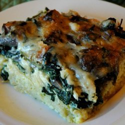 French Baguette Casserole With Egg Spinach Mushroo...