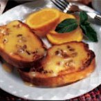 Almond-stuffed Battered French Toast With Orange G... recipe