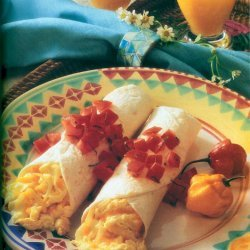 Breakfast Burritos With Tomato-basil Topping