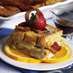 Orange-bacon French Toast Casserole recipe
