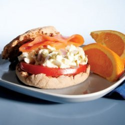 Power Breakfast 2  Egg And Salmon Sandwich