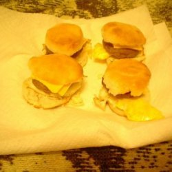 Sausage Egg Cheese Biscuit Sandwiches