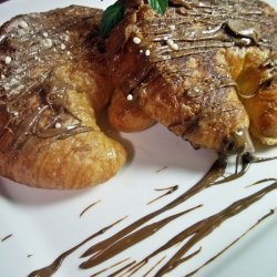 Hazelnut Croissant Toast With Nutella Butter recipe