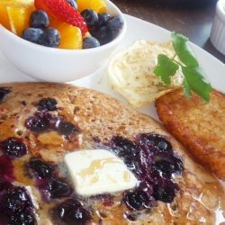 Whole Wheat Buttermilk Blueberry Pancakes recipe