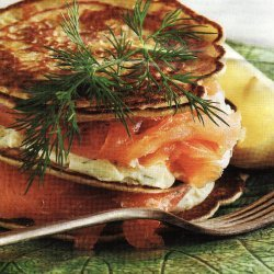 Quinoa Flour Pancake And Salmon Stack