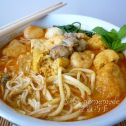 Seafood Curry Noodles (curry Mee)