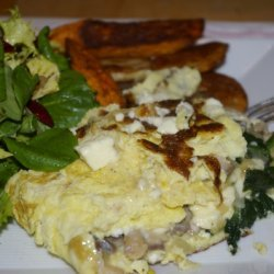 Omelet With Smoked Mackerel And Spinach