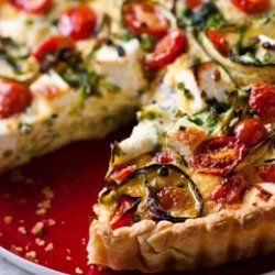 Tomato And Baby Marrow Quiche recipe
