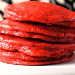 Red Velvet Chocolate Chips Pancakes