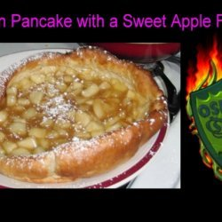German Pancake With Sweet Apple Filling
